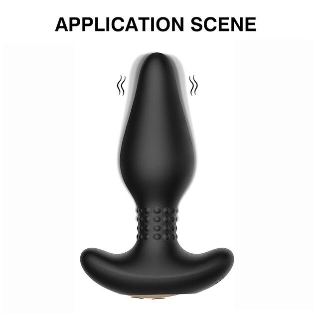 Vibrierende Prostata Massager Männer Anal Stecker Fernbedienung Anal Vibrator Starken Motoren Muster Butt Silikon Sex Spielzeug für Erwachsene 5