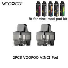 2 sztuk paczka VOOPOO VINCI Pod 5 5ml wkład E papieros cewka zastępcza Pod na VOOPOO VINCI Mod Pod zestaw i VINCI R zestaw z modem tanie tanio Wymienne Z tworzywa sztucznego VOOPOO VINCI Mod Pod Kit