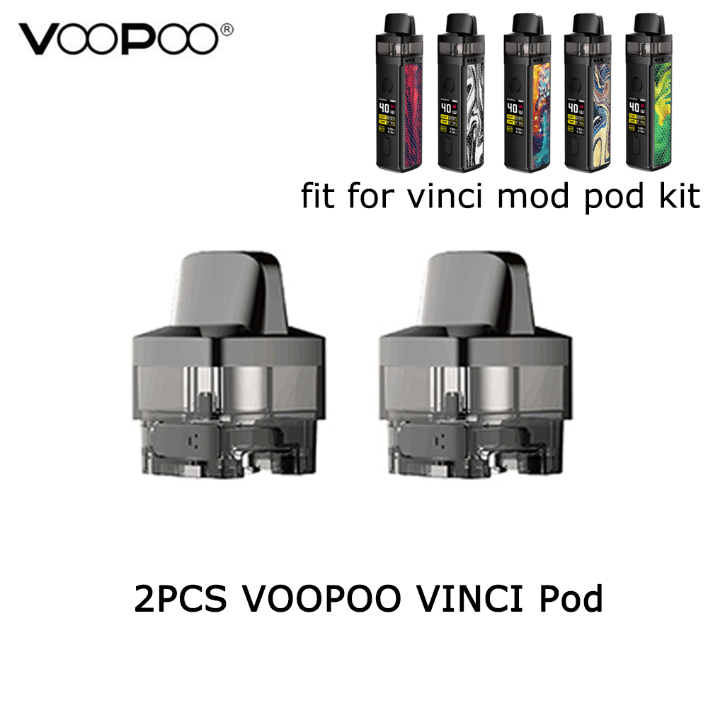 2PCS/Pack VOOPOO VINCI Pod 5.5ml Cartridge E Cigarette Replacement Coil Pod For VOOPOO VINCI Mod Pod Kit & VINCI R Mod Kit