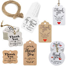100Pcs Thank You for Celebrating with Us Tag Gift Tags Wedding Decoration Party Favors Hang DIY