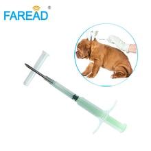 1.4x8mm/2.12x12mm köpek mikro çip veteriner pet mikroçip şırınga ile RFID FDX B standart sığır tanımlama için