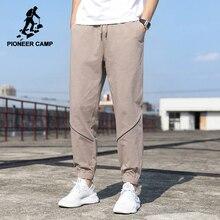 Men Clothing Pioneer Camp Causal-Pants Oversized Streetwear Loose 100%Cotton Hip-Hop