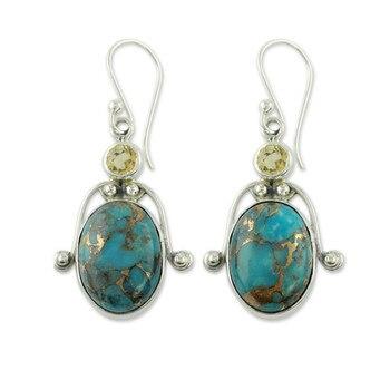 2020 pendientes de plata con forma de Esmeralda Natural de lujo para mujer, pendientes de joyería de plata para fiesta, regalos de compromiso, pendientes de joyería