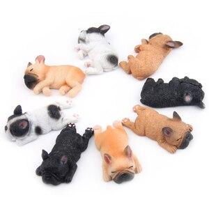 Cute French Bulldog Magnet Refrigerator Sticker Sleeping Dog Cartoon Fridge Magnets For Office Home Decoration Sticker Drop ship