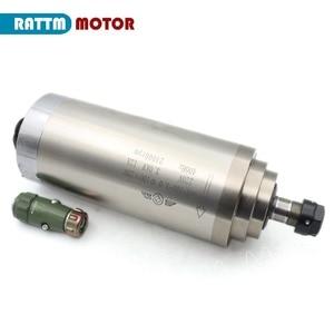 Image 2 - 3KW moteur de broche refroidi à leau ER20 & 3kw onduleur VFD 220V & 100mm pince & 75W pompe à eau et tuyaux avec 1 ensemble ER20 Kit de CNC de pince