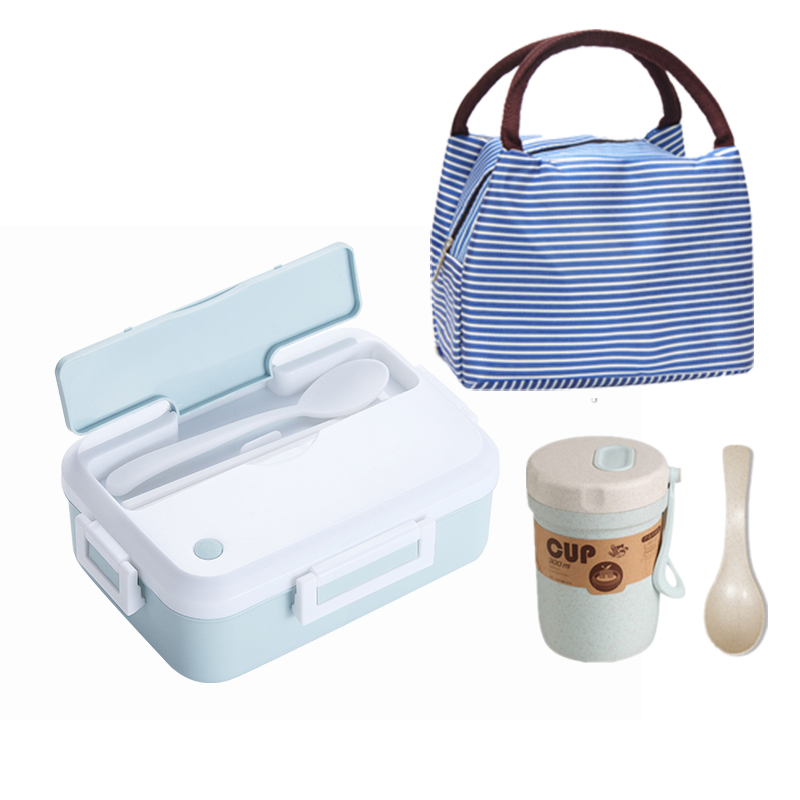 Microwave oven Lunch Box With Tableware Cup Leakproof Portable Food Container Office School Hiking Camping Kids Health Bento Box|Lunch Boxes| |  - title=