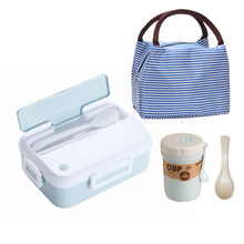 Almoço com copo portátil para microondas, recipiente para comida, escola e acampamento, à prova de vazamento, para escritório e caminhadas, para crianças