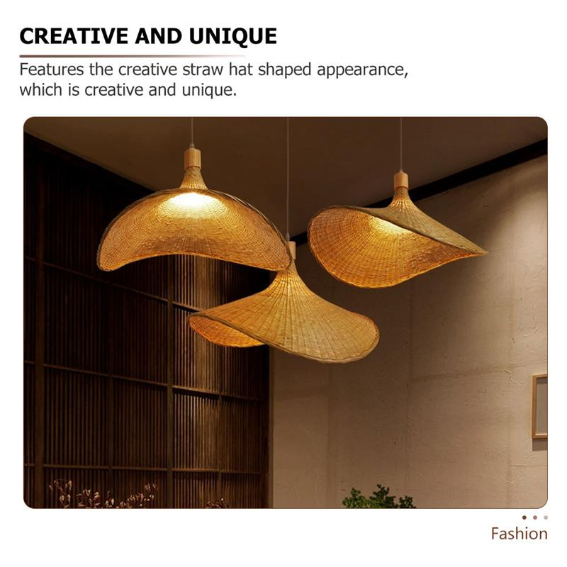 1pc Bamboo Ceiling Lights Chinese Style, Asian Style Hanging Lamps