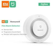 Xiaomi Mijia Honeywell alarme incendie détecteur de fumée capteur sonore alarme visuelle remarque travail avec Mi Home APP par téléphone