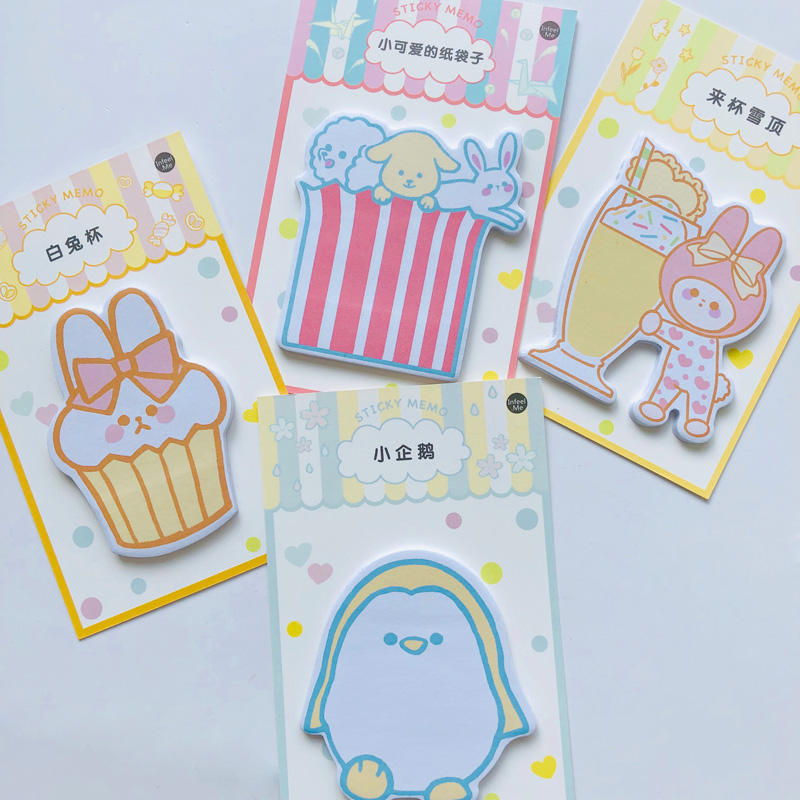 30 Pages Kawaii Penguin Snow Rabbit Memo Pads Planner Sticker School Stationery Sticky Notes Notepad
