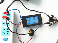 Ac 110 v-220 v 디지털 lcd 100a 와트 전력계 볼트 앰프 전류계 전압계 + 케이스