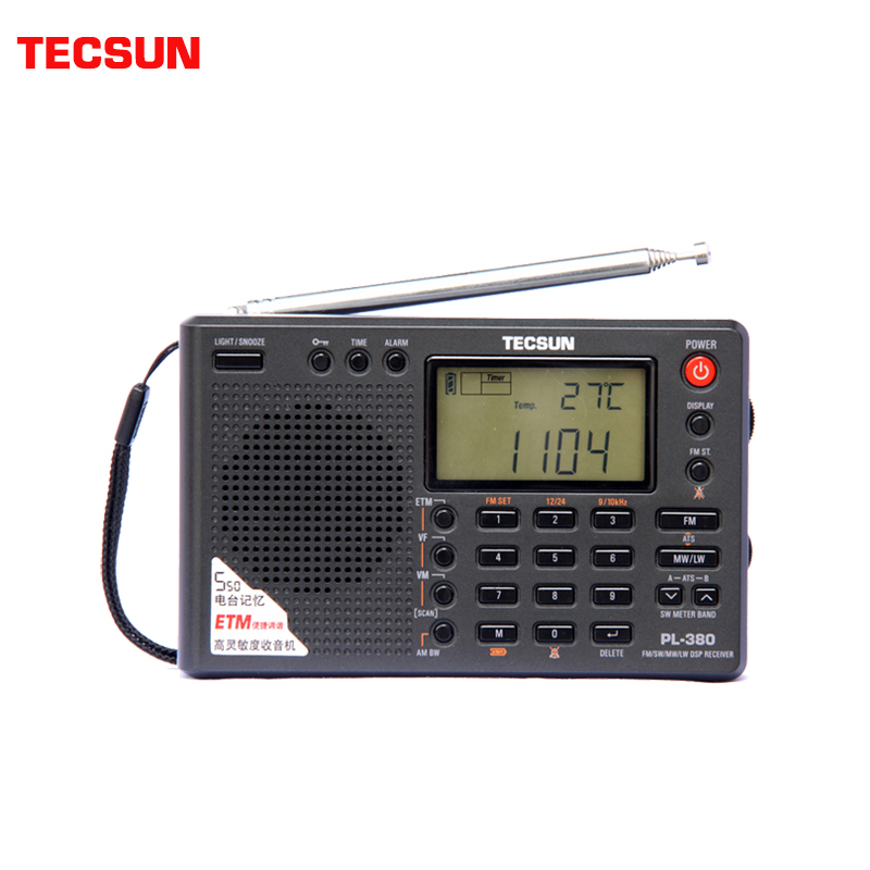 tecsun pl 380 - Tecsun PL-380 Full Band Digital Demodulation Stereo PLL Portable Radio FM /LW/SW/MW DSP Receiver