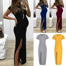 купить Maternity Dresses Maternity Clothes Pregnancy Dress Pregnant Dress Casual Floral Falbala Pregnant Comfortable Dress дешево