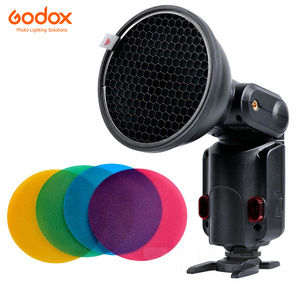 Image 2 - Godox AD S11 Color Gels Filter Honeycomb Grid +AD S2 Standard Reflector Soft Diffuser for Witstro AD 360 II AD360II AD180 AD200