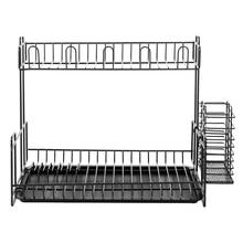 Двухслойный Железный+ PS стеллаж для хранения посуды, держатель, полка, сушилка для посуды для кухни, стеллажи для хранения, держатели, инструменты
