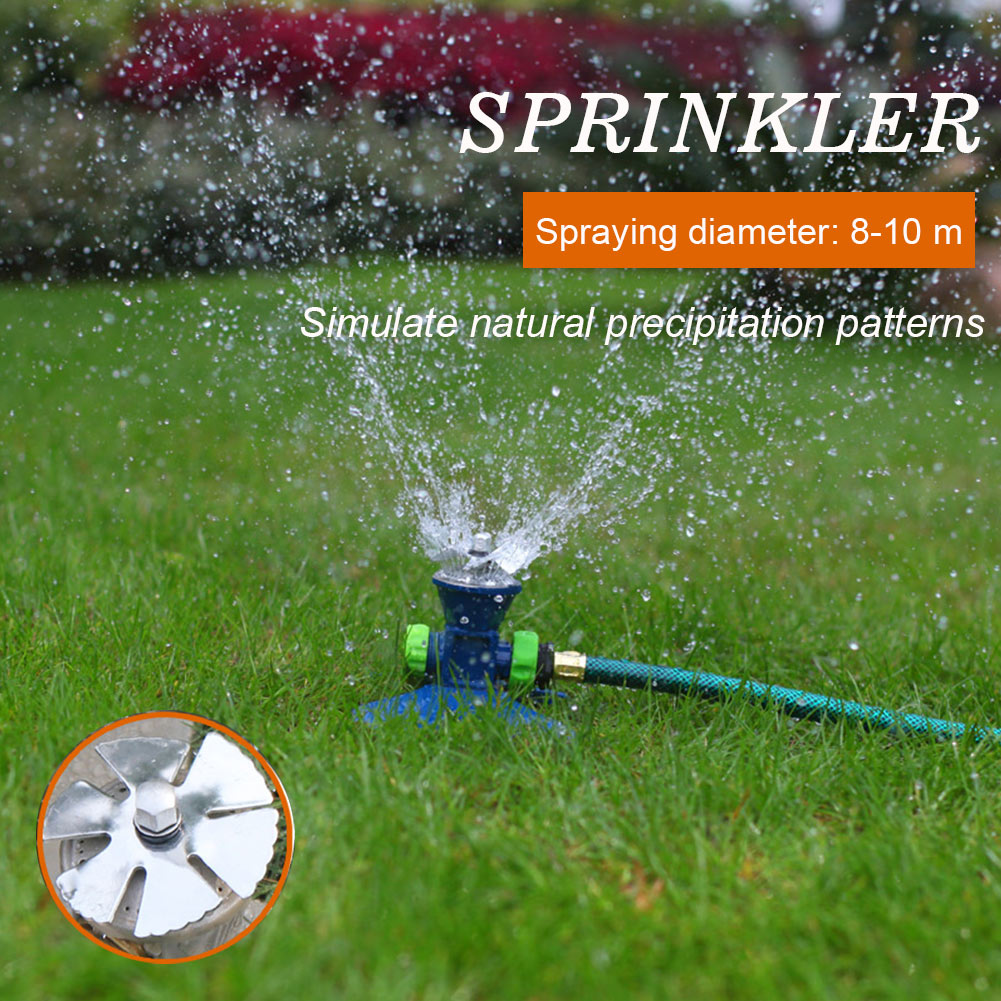 Home 360 Degree Rotate Automatic Watering Garden Sprinkler Lawn Kids Playtime Heavy Duty Metal Construction Irrigation System