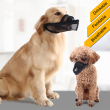 Breathable Dog Muzzle Mesh Mask Soft Cover with Dogs Hook Loop Stop Biting Barking and Chewing Adjustable