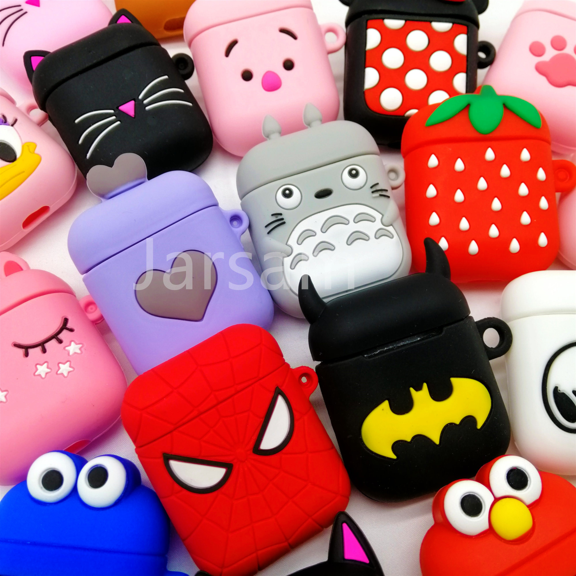 For Airpods Case Silicone Stitch Cartoon Cover for Apple Air pods Cute Earphone Case title=