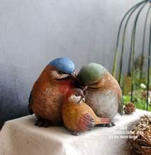 Американский Ретро птица семья Смола украшения спальни гостиной