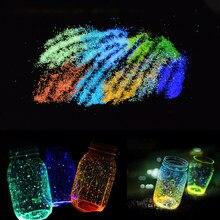 Sable Noctilucent pour Aquarium 10g, particules fluorescentes lumineuses pour Aquarium, accessoires de décoration