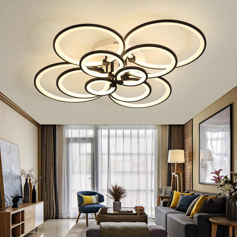 Hot modern led chandelier lights for living room bedroom kids room surface mounted led home indoor ceiling chandelier lamp