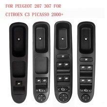 Interruptor de Control de ventana eléctrica para coche, para Peugeot 207 307, Citroen C3 Picasso 2000 +, 6554KT 6554QC 6490EH 6490HQ 6554QF 6554QG
