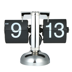 Image 5 - Flip Digital Clock Small Scale Table Clock Retro Flip Clock Stainless Steel Flip Internal Gear Operated Quartz Clock Home Decor