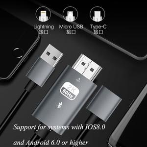 Image 3 - Larryjoe 2K Bluetooth USB อะแดปเตอร์สาย HDMI สำหรับ IPhone 11 PRO MAX XS XR 6 7 8 PLUS Samsung s8 LG IOS Android โทรศัพท์ทีวี HDTV