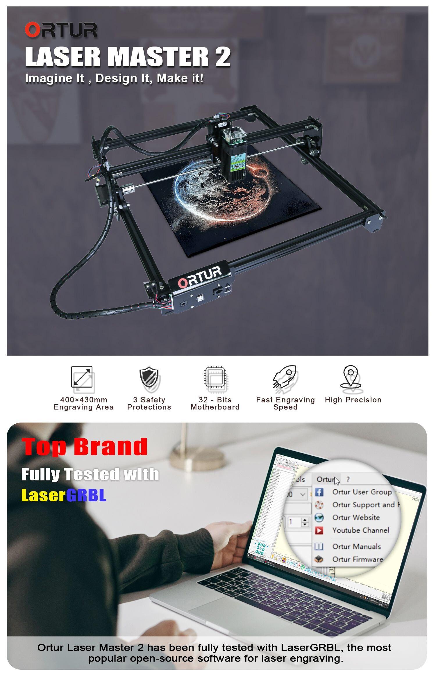 Ortur laser mestre 2 2w máquina de