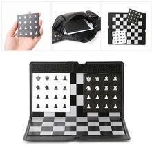 Tricks-Props Chess-Set Board Checkers Pocket International Folding Traveler Magnetic