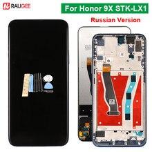Tela para huawei honor 9x STK-LX1 versão russa display lcd mult toque digitador da tela substituir para honra 9x STK-LX1 6.59 polegada