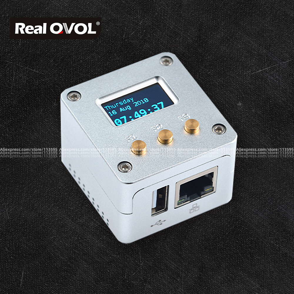 RealQvol FriendlyELEC NanoPi NEO/NEO2 Metal Complete Kit Aluminum Housing Oled Programmable In Python
