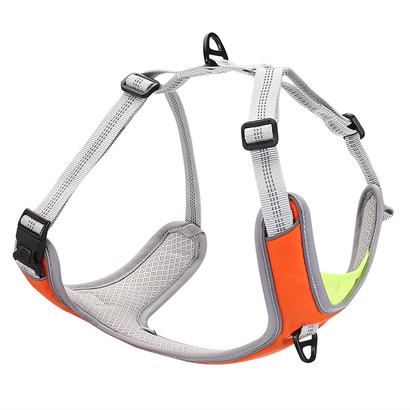 2020 New Style Dog Chest And Back With Adjustable With Reflective Strips Chest And Back Comfortable Breathable Dog Chest And Bac