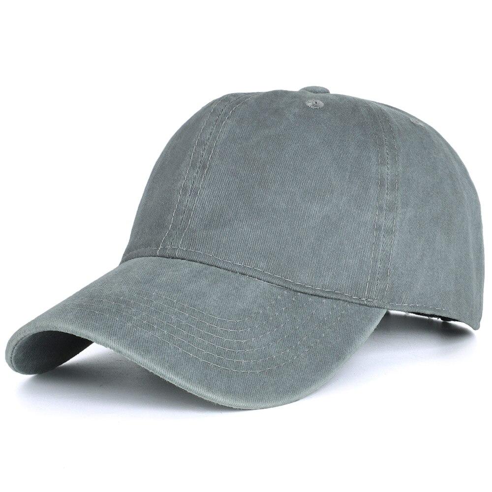 2020 High Quality Men Washed Cotton Baseball Cap Women Vintage Snapback Hat Adjustable Trucker Outdoor Caps Black Dad Hat Bone 16