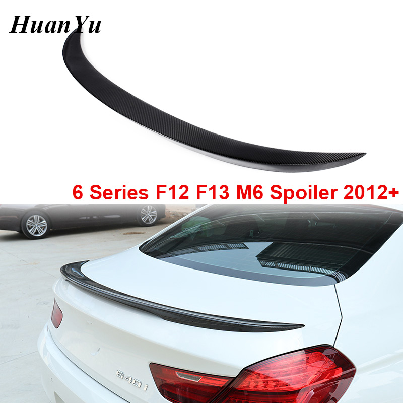 F12 F13 M6 Style Rear Spoiler for BMW 6 Series 2 door Coupe & Convertible Carbon Fiber Trunk Ducktail Lip Wings 640i 650i 2012+
