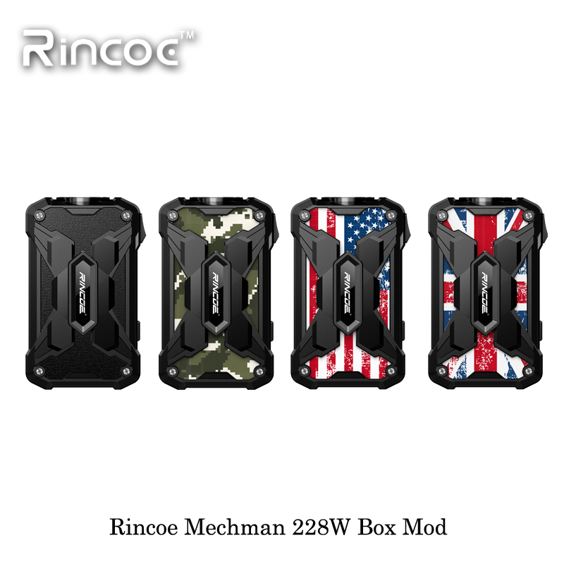 Electronic Cigarette Rincoe Mechman 228W Box Mod Powered By Dual 18650 Battery Vape Vaporizer VS VOOPOO DRAG 2 177W IJoy Shogun