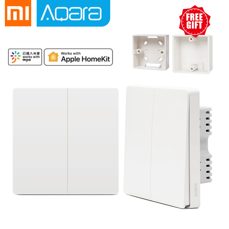 Original Xiaomi Mijia Smart Home Aqara Smart Light Control ZiGBee Wireless Key And Wall Switch Via Smarphone With MI Home APP