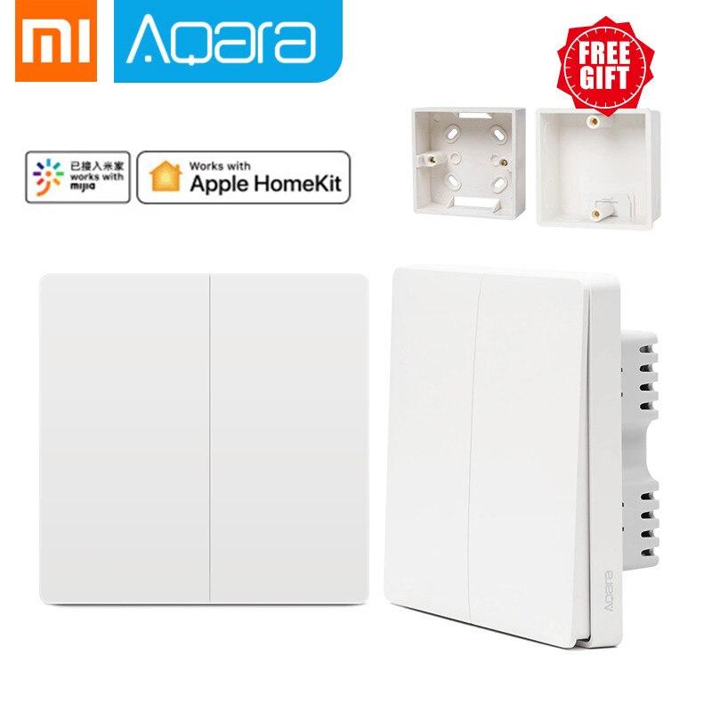 Original Xiaomi mi jia Smart home Aqara Control de luz inteligente ZiGBee llave inalámbrica y interruptor de pared a través del teléfono inteligente con la aplicación mi Home
