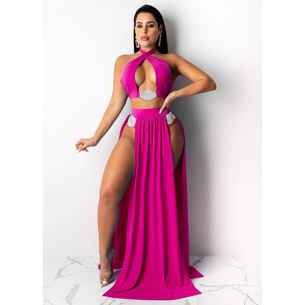 2022 Hot Sale New Design Styele Casual Clothing Sweatwear Sweet Sexy Fashion Soft Good Fabric Women Swimwears 10181