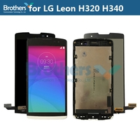 Original LCD Screen for LG Leon H320 H340 LCD Display for LG H340N Touch Screen Digitizer LCD Assembly With Frame Phone Parts
