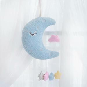 Image 5 - Hangable Seaweed pillow moon cloud pillow plush toys stuffed cushion girl Room decoration Xmas Gifts toys for children