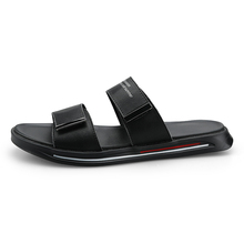 Men Flip Flops Summer Beach Sandals Slippers For Men Flats High Top Non-Slip PU Shoes Men Plus Size 44 Outdoor Casual Shoes 2020 2020 summer cool rhinestones slippers for male gold black loafers half slippers anti slip men casual shoes flats slippers wolf