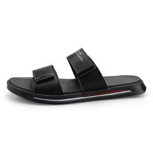 цена на Men Flip Flops Summer Beach Sandals Slippers For Men Flats High Top Non-Slip PU Shoes Men Plus Size 44 Outdoor Casual Shoes 2020