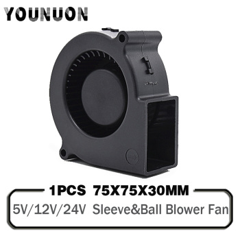 1PCS 7530 DC 5V 12V 24V Projector Blower Centrifugal Fan Cooling Fan 7CM Fan 75x75x30mm Blower Cooler Fan 5V USB Blower Fan 1pcs 7530 dc 5v 12v 24v projector blower centrifugal fan cooling fan 7cm fan 75x75x30mm blower cooler fan 5v usb blower fan
