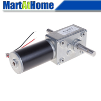 5840 31zy Worm DC Geared Motor Double Shaft 21W 12V 24V Self locking Max. 70 Kg.cm for DIY Automatic drying rack