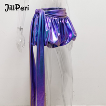 JillPeri Sexy Sparkle Lantern Shorts with Long Drop Fashion Colorful Ultra Short Night Club Wear Celebrity Party Bottoms Shorts