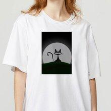 Летняя футболка женская уличная одежда забавная с графическим