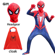 Halloween Child Adult Spider Suits Far From Home Peter Parker Cosplay Costume Mask Zentai Spiderboy Superhero Jumpsuits Man Kids