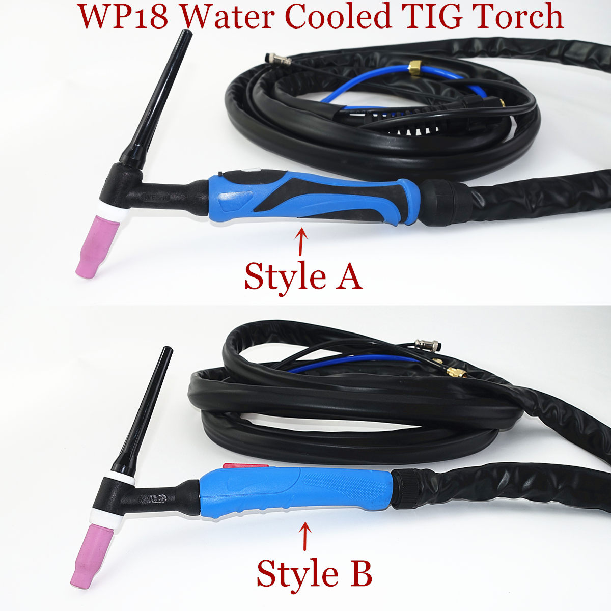 WP18 Water Cooled TIG Welding Torch W350 TIG Gun 350A Argon Tungsten Welding 4m 13ft Cable TIG Torch
