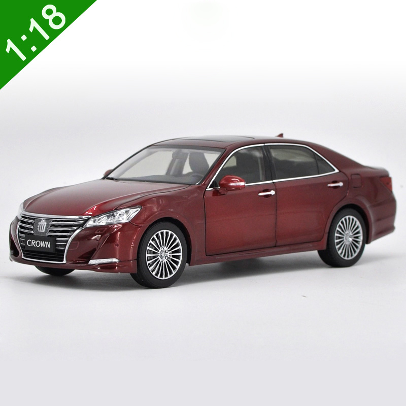 1:18 High Meticulous TOYOTA 2016 CROWN Alloy Model Car Static Metal Model Vehicles With Original Box